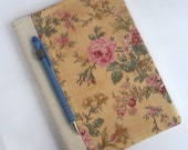 Fabric Journal Cover Notebook A5 Sweet Rose By BonTons on Etsy
