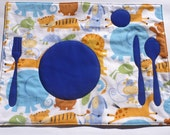 Set the Table Placemat Montessori Fun Educational Animals Place Mat by BonTonsGifts on Etsy