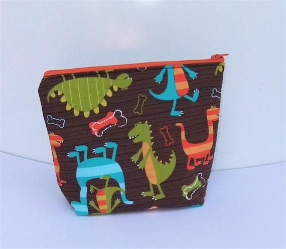 Insulated Lunch Bag Little - Zip Eco Friendly Dino Chomp by BonTonsGifts on Etsy