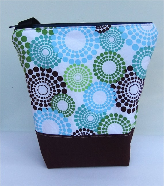 Insulated  Lunch Bag Tote - Zip Eco Friendly Fresh Fireworks by BonTonsGifts on Etsy