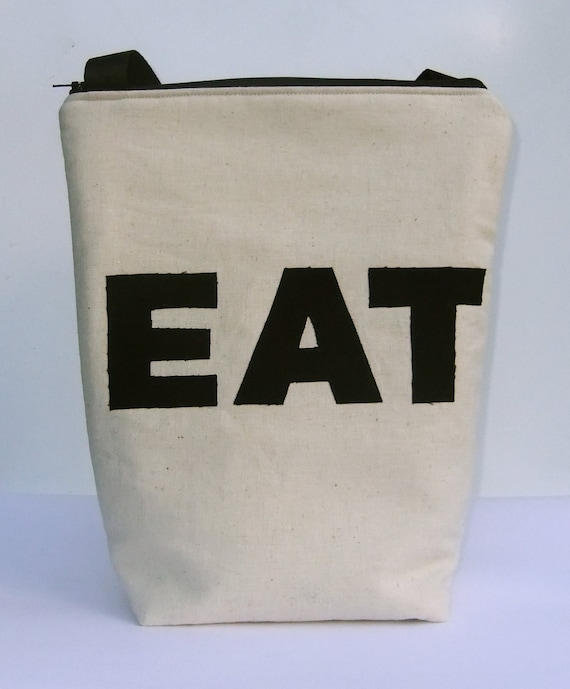 Reserved for Geralyn Custom size Insulated Lunch Bag Tote - Zip - EAT by BonTons Australia