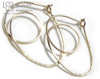 SLIPKNOT LOOP Hoop Earrings 14K Gold Filled  BBJUDESIGN