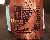 fly with me etched metal cuff womens jewelry free shipping