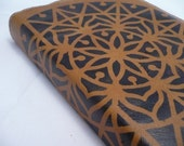 Leather Journal - Leather Sketchbook Cover - Personalized - Travel journal - Mandala