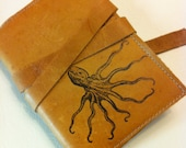 Small Leather Journal - Leather Sketchbook Cover - Refillable Journal - Custom - Monogram - Personalize