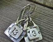 Lucky 13 earrings