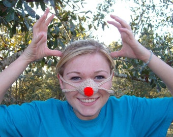 Rudolph Red Nose - Nose Warmer, Tween, Teen, Adult, Nose Cozy, Winter, Christmas Fun, Crocheted