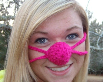Nose Warmer O' Rosie Nose, Teen, Tween, Woman, Nose Cosy, Crocheted, Cold Nose Cover Adult, Vegan Friendly Outdoor Fun, Sleep With Warm Nose