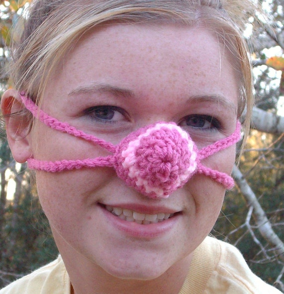 Crochet Nose Warmer : Pretty in Pink Nose Warmer, Crocheted, Stocking Stuffer, Girly,Tween ...