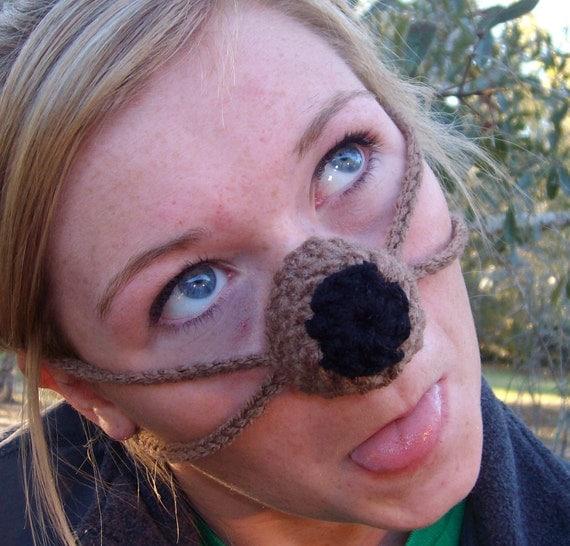 Barry the Brown Nose Bear Nose Warmer, Man, Woman Gag Gift, Nose Cozy, Party Nose, Outdoor Fun, Vegan Friendly, School Mascot, Novelty