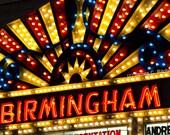 Birmingham Theatre canvas wrap - Retro marquee home, office, rec room wall decor