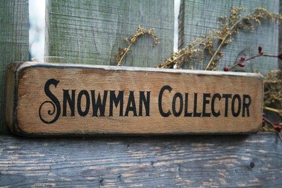 Snowman Collector Chunky Shelf Sitter