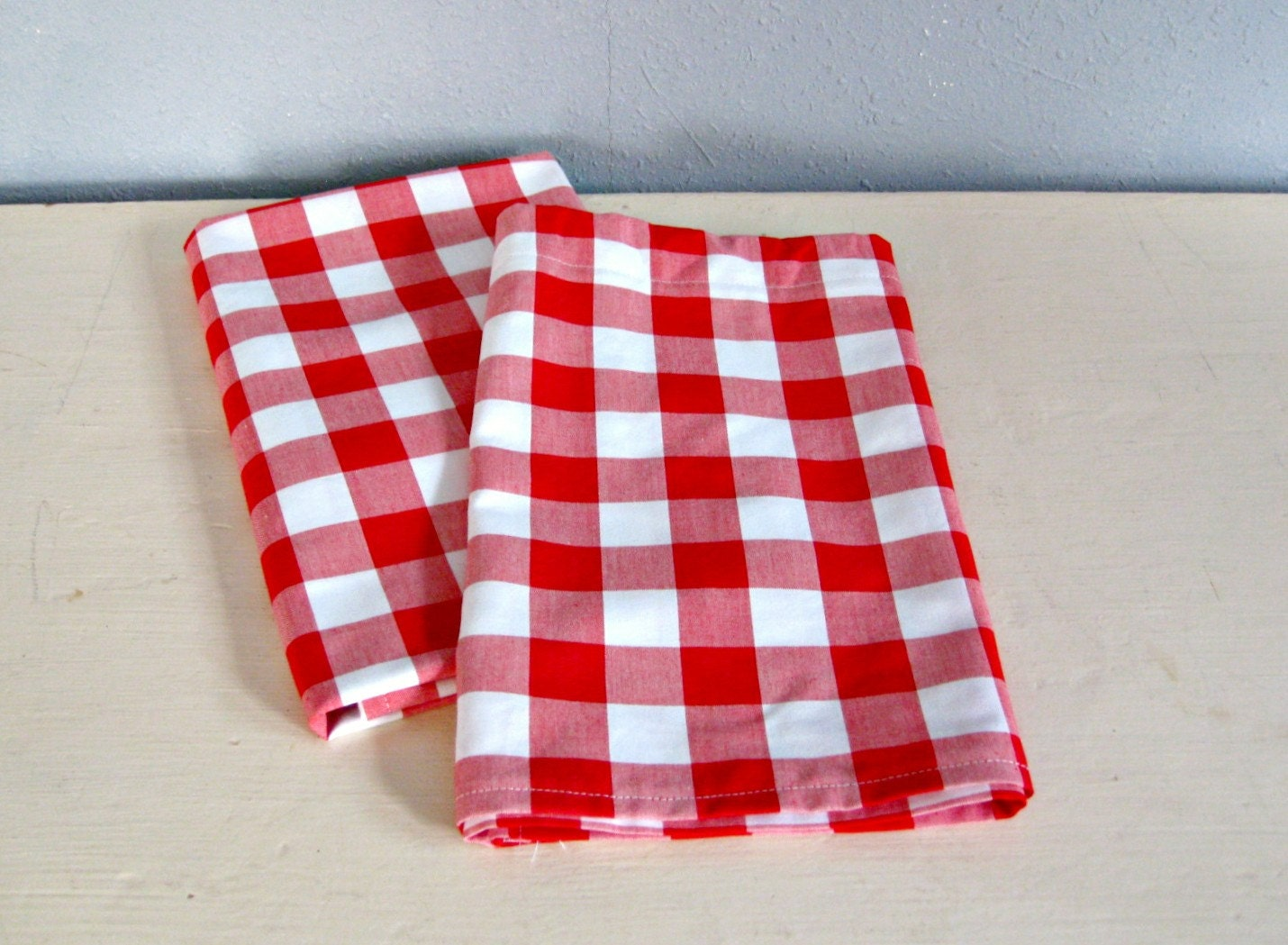 red gingham cafe curtain cotton valance by theclassicfarmhouse