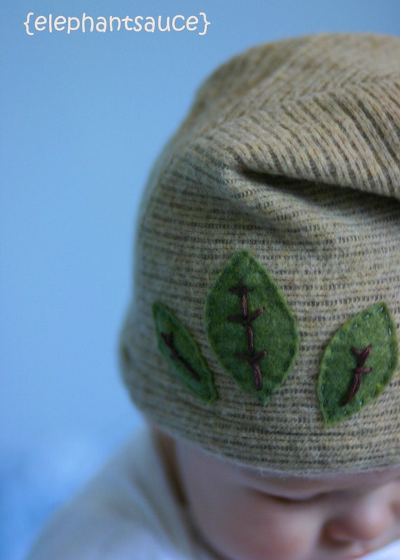 leafy -SHIPPING INCLUDED-newborn, baby, toddler hat