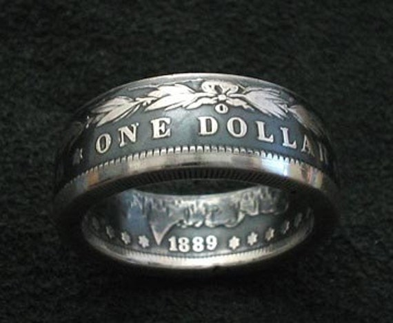 Coin Ring 1889 Silver Dollar Silver Morgan Dollar Ring