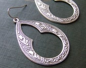 Large Keyhole Filigree Earrings