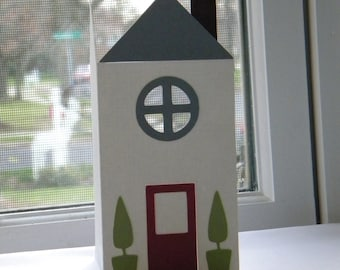 New Home Card, House Warming, White, Gray