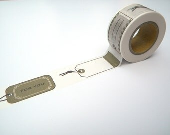Brown Washi Tape, Japanese Masking, Gift Labels, Scrapaholic Collection