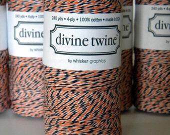 Halloween Baker's Twine, Orange, Black, White, Divine, 240 Yards, 720 Feet, Limited Edition