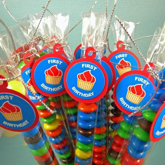 Super 1 compleanno Cupcake Bomboniere sacchetti di caramelle MP66