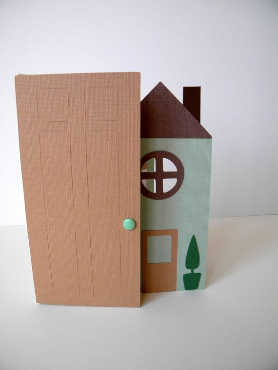 New Home Card, House Warming, Mint Green