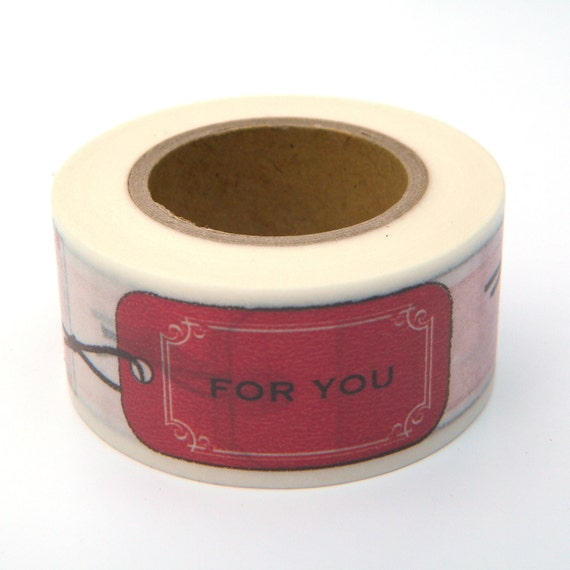 Red Washi Tape, Japanese Masking, Gift Labels, Scrapaholic Collection