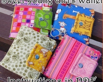 How to Make a Sweet Young Girl's Wallet PDF - DIgital File DIRECT DOWNLOAD