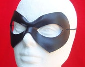 Supermask - leather comic book cosplay mask - CUSTOM MADE - any color you desire