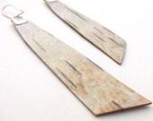 Birch bark earrings, Trees