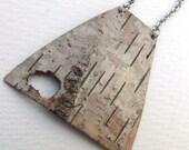 Birch bark necklace, Woodpecker