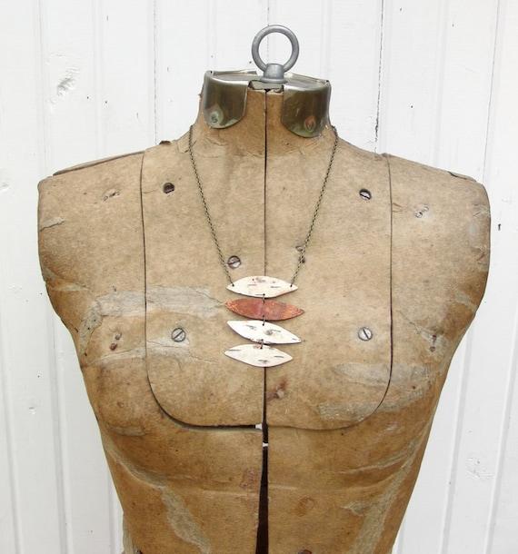 Birch bark necklace, Stack