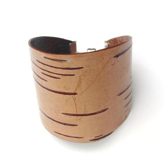 Birch bark cuff bracelet, Sienna