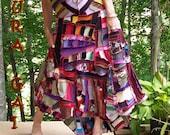 Poorgirls Patchwork Corset Back Skirt . RESERVED for HARMONY13