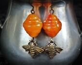 Swarm - Bee Hive earrings
