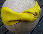 Sunshine Yellow leather turban