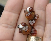 Lampworkers inventory PURGE - set 2 fish beads