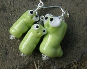 RESERVED for Carol --- InCH WoRM pendant and earring set