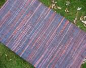 Richly Colored Organic hemp woven rug