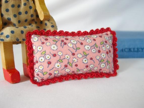 Picca-Little Miniature Doll Pillow - Cozy Crochet in Springtime Joy