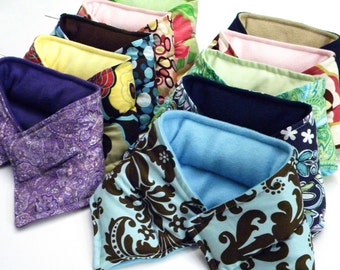 Ten Microwave Heat Packs Neck Wraps, Neck Heating Pads,  Hot Cold, Favors for Events, Parties, Wedding, Bridesmaids, rice bag Teachers Gift