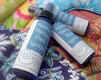 Choose Three aromaTHERAPY Pack Spritzers for Heat Packs and Cold Packs by theferriswheels on etsy