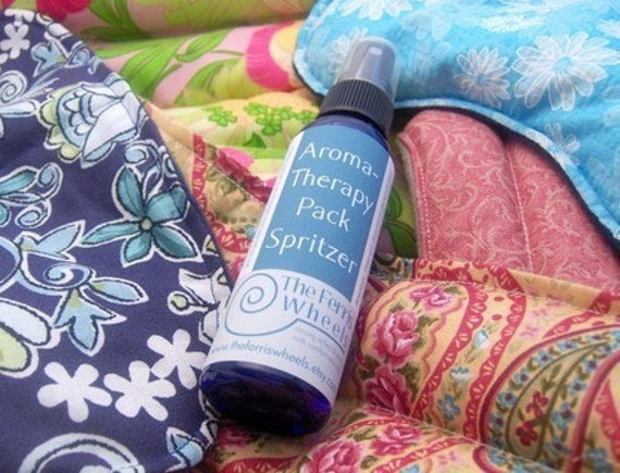 Spritzer 2 oz - aromaTHERAPY Pack Spray - for microwavable hot / cold pads - natural essential oils