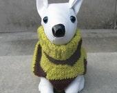 Warm Fuzzy...Striped Dog Sweater