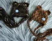 Baby Hats, Twin Hats Set Little Bear Beanie, Newborn Photo Prop, Newborn Baby Hat Photo Prop, Bear Hat