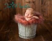 SALE  Faux Fur Photo Prop, Long Pile Fur,  in Red, Black Tips Size 30 x 20