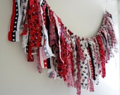 4th of July Fabric Banner, Fringe Garland, Photo Prop or Decore