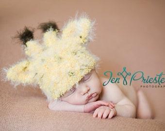 Newborn Baby Hat, Giraffe Baby Hat, Newborn Photo Prop, Knit Newborn Hat, Baby Photo Prop, Animal Hat