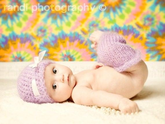 Baby Hat and Baby Leg Warmers, Newborn Baby Hat, Newborn Photo Prop, Knit Photo Prop