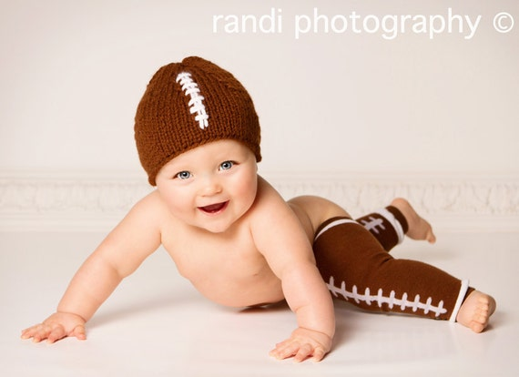Baby Hat, NFL Football, Newborn Baby Hat Photo Prop, Newborn Photo Prop, Knit Baby Hat, Newborn Knit Hat