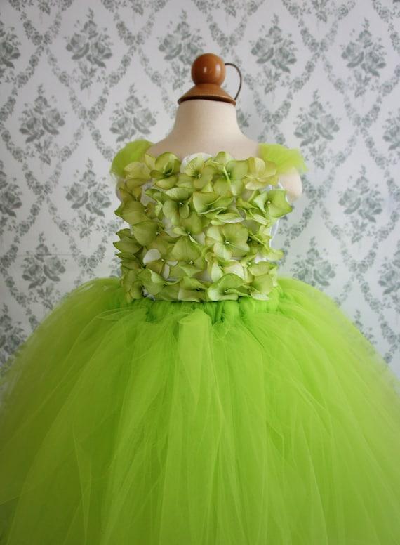 Flower girl dress Apple Green tutu dress, flower top, baby tutu dress, toddler tutu dress